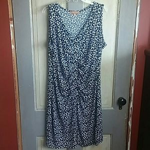 Ellen Tracy Navy with white polka dot dress
